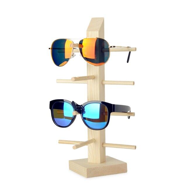 932c0037ead9 2016 Wood Glasses Racks For 3/4/5 Glasses Sunglasses Display Stand Wood  Sunglass Display Shelf Sunglass Holder