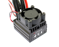 Flycolor Car ESC Thunder 45A Waterproof Electronic Speed Controller With Fan Radiator For Racing RC Module Cars Toy Spare Parts