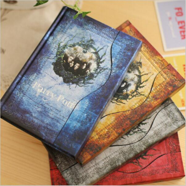 4pcs/lot Hardcover Harry Potter Vintage Notebook/Diary Book/Gift Note Book/Notepad/Agenda Planner 2016-2017-2018 calendar GT185 rights of the game notebook gift diary note book agenda planner material escolar caderno office stationery supplies gt105