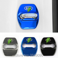 Door Lock Cover Caps Protective Car Styling 4pcs Set Stainless Steel For KIA K2 K3 K4