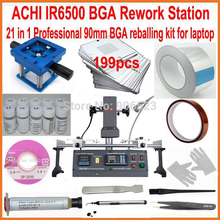 Горячая Распродажа ACHI IR6500 Инфракрасная паяльная станция для BGA+ 90 мм 199 шт трафареты для ноутбуков bga набор для реболлинга+ 20 подарков
