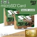 Suntrsi Microsd Высокоскоростной Класс 10 Карты Памяти 64 ГБ Реального емкость Карта Micro Sd для Камеры Мобильного Телефона Microsd Карты в Исходном Microsd