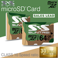 Suntrsi Microsd High Speed Class 10 Memory Card 64GB Real Capacity Micro SD Card for Phone Cameras Microsd Card Original Microsd