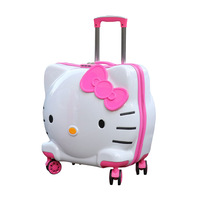Luggage bag new 19 inch cute cat children's suitcase 3D student luggage cartoon travel luggage girl boarding box