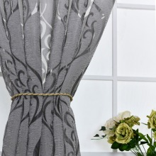 2018 Hot Sales Bubble Pattern european style Window sheers Home Decor Curtain Cut Flowers tulles 1pc