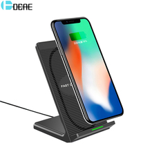 DCAE Qi Wireless Charger 10W for Samsung Galaxy S9 S8 Note 9 8 Fast Phone Wireless Charging Holder for iPhone XS MAX XR X 8 Plus