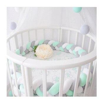 Bebê Bumper Cama Design Nó Acessórios Protetor de Berço Cama Berço Do Bebê Recém-nascido Infantil Room Decor 100 cm-300 cm