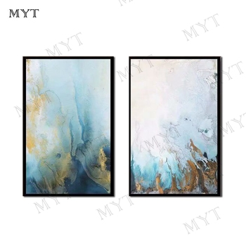 MYT High Quality Abstract 2 Pieces Oil Painting on Canvas Abstract Painting for Living Room Oil Painting On Canvas Abstract