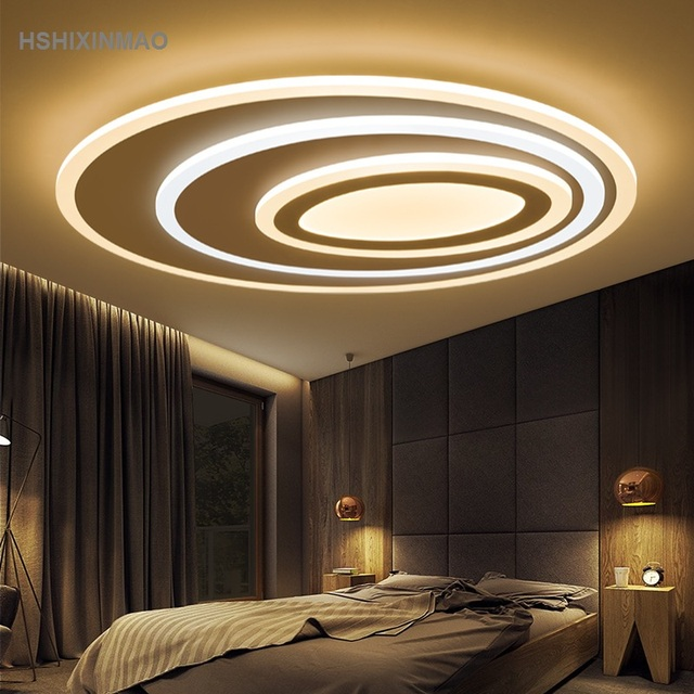 us $117.0 25% off|simple modern living room lights oval creative hall home  ceiling lamps personalized led master bedroom lights ceiling lights-in