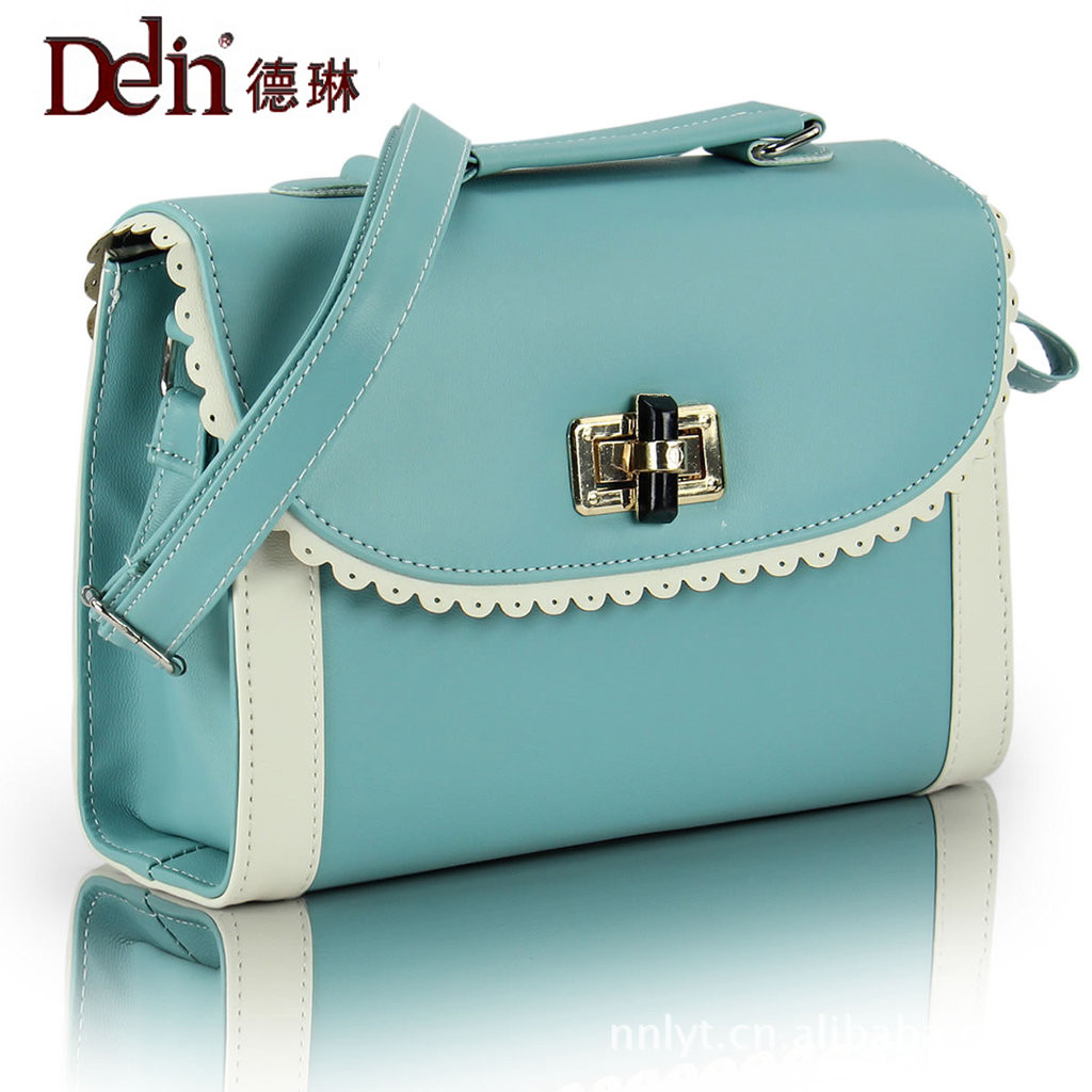 DELIN Female new spring   fashion lace melting of ladle bag single inclined across shoulder bag handbag karen cvitkovich leading across new borders