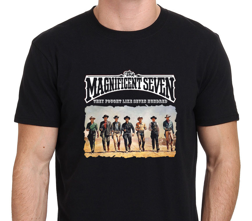2017 Gildand Creative The Magnificent 7 Classic Western Movie Designed Men'S Popular T Shirt Tops Fashion Tees