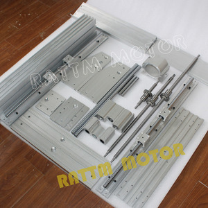 Image 2 - Gravador de roteador cnc, gravador, máquina de fresagem, kit de moldura, parafuso esférico e 80 braçadeira do eixo do alumínio
