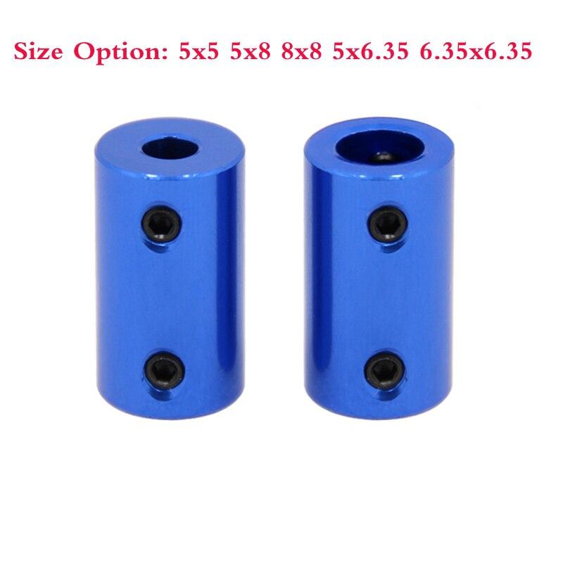4pcs Blue Shaft Coupler Stepper Motor Coupling 5x5 5x8 5x6.35 8x8 For 3D Printer, Car Model, Ship Model, Metal DIY Model