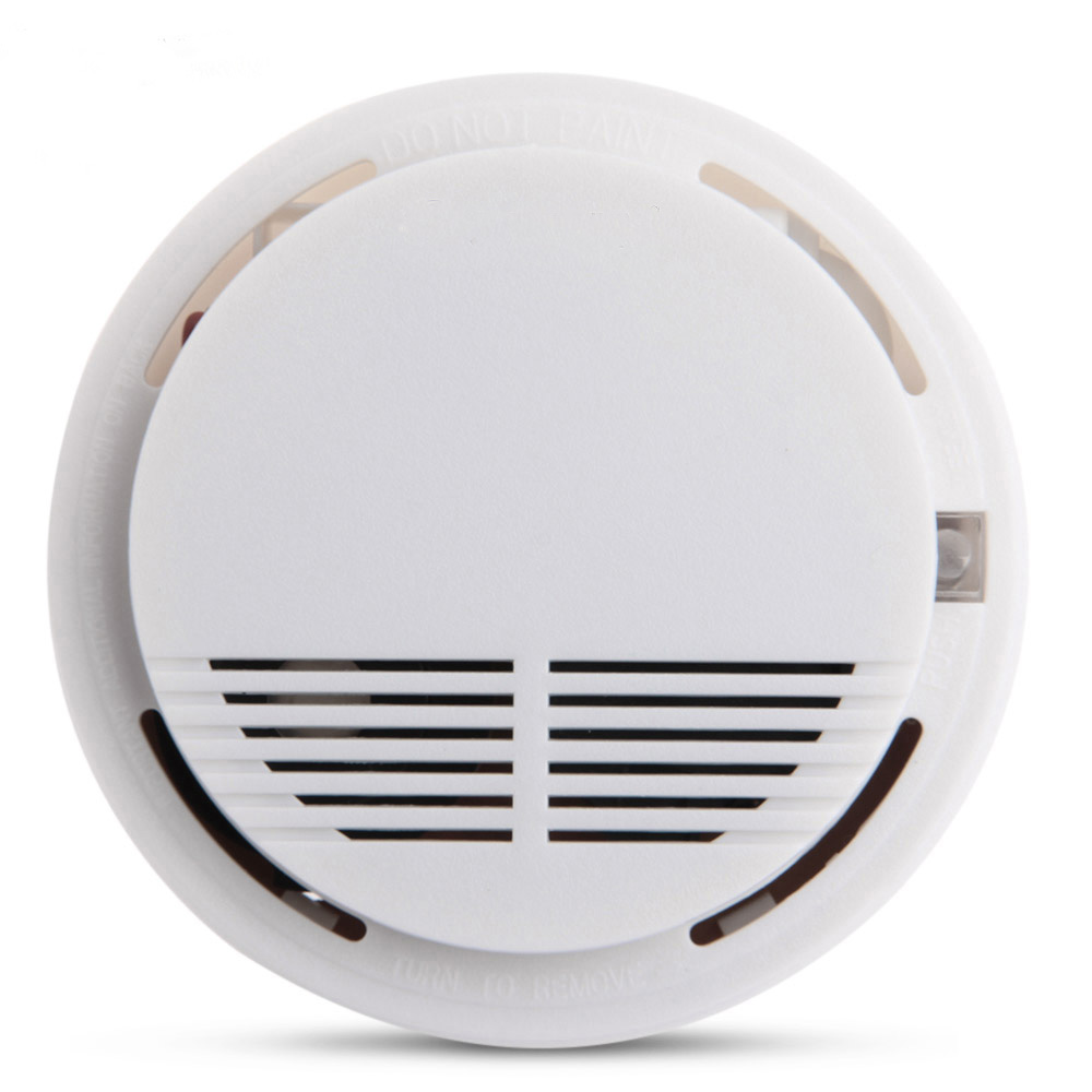 Wireless Alarm Security Smoke Fire Detector 80dB Home Security System for Indoor Shop Smoke Alarm Sensor wireless smoke fire detector smoke alarm for touch keypad panel wifi gsm home security system without battery