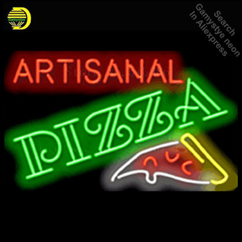 Artisanal Pizza NEON SIGN REAL GLASS BEER BAR PUB LIGHT SIGNS store display Restaurant Advertising food dining Lights 19*15