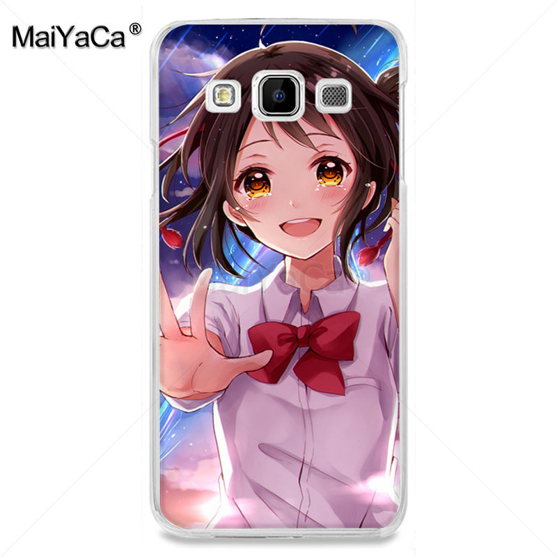 , MaiYaCa Romantic love Cartoon anime your name tv Phone Accessories case for samsung  A3 A7 A8 A9 A5 note 4 note3 case Cover