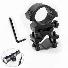 Rail-Clip Ring Flash-Light Gun-Mount Laser-Torch-Bracket Metal Hunting Universal 20mm