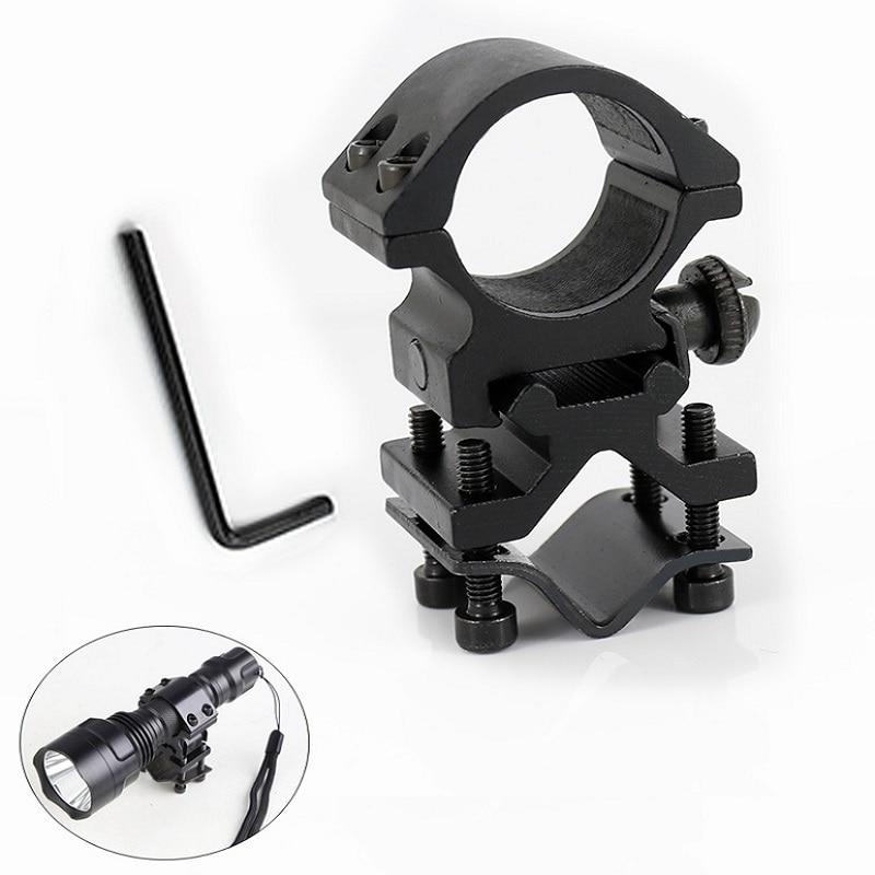 Universal Metal Rail Clip 25mm Ring 20mm Rail Gun Mount Tactical Flashlight Laser Torch Bracket For 501B C8 Hunting Flash Light