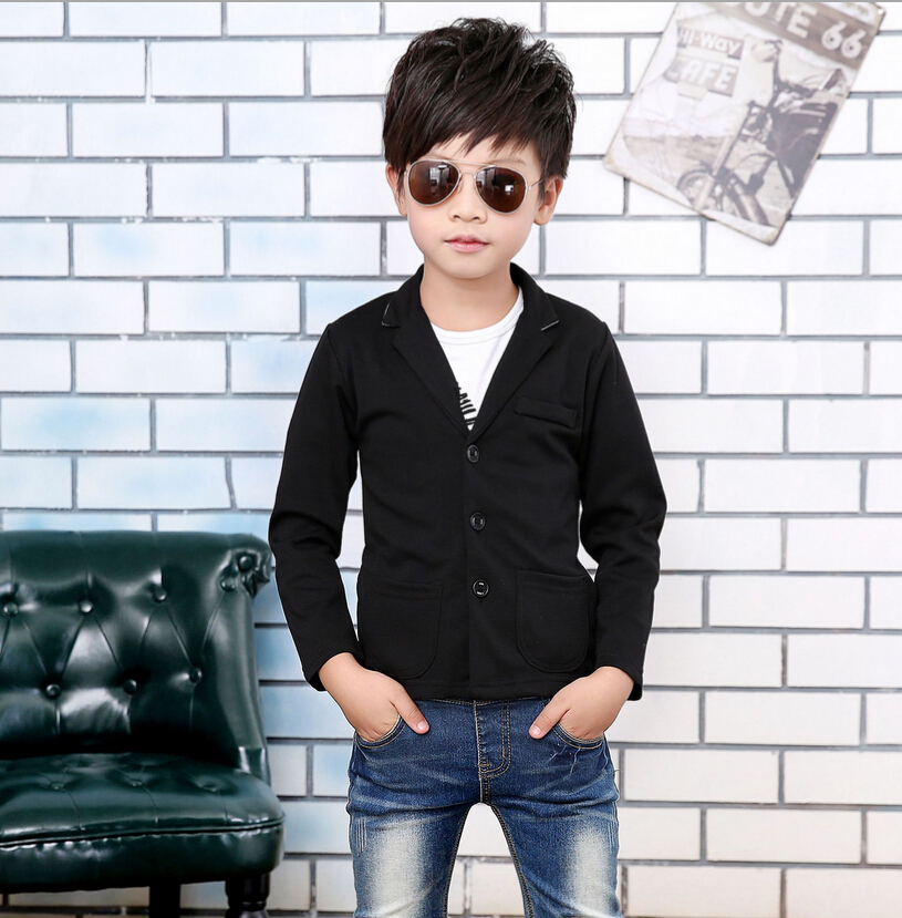 New 2017Boys JacketSpring Autumn OuterwearKids Boys Party Blazers WearBaby Boy ClothesBlack ...