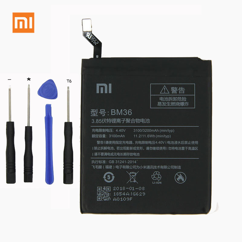 Xiaomi Phone-Battery BM36 3100mah Original For 5S 3100mah/Lithium/Polymer