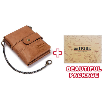 100% Genuine Leather Rfid Wallet Men Crazy Horse Wallets Coin Purse Short Male Money Bag Mini Walet High Quality Boys 17