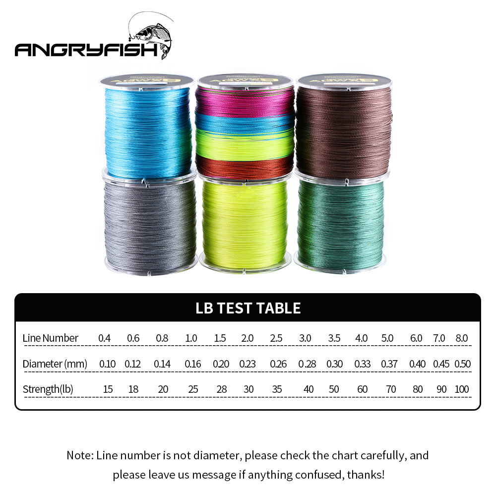 Image 2 - Angryfish 500M 9 Strands Super Multicolor PE Braided Fishing Line Strong Strength Fish Line-in Fishing Lines from Sports & Entertainment