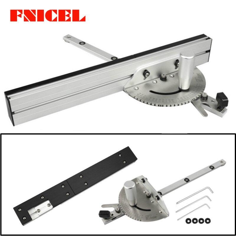 450mm mitra calibre com faixa parar serra de mesa/roteador mitra calibre serrar conjunto régua para serra de mesa roteador carpintaria ferramentas diy