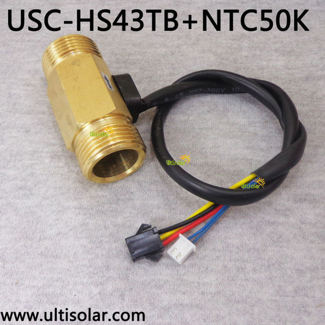 USC HS43TB T brass hall effect water flow sensor with temperature ...