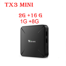 TX3 Mini 5pcs/lot TV Box S905W 2.4GHz WiFi Android 7.1 1GB RAM 8GGB ROM 2G 16G Support 4K