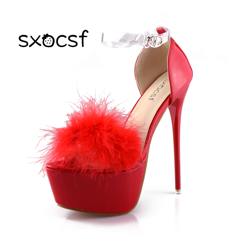 красивые пикантные супер босоножки на платформе насосы для женщин мода фул  стилет каблучки обувь открытый носок 860e3ea2198