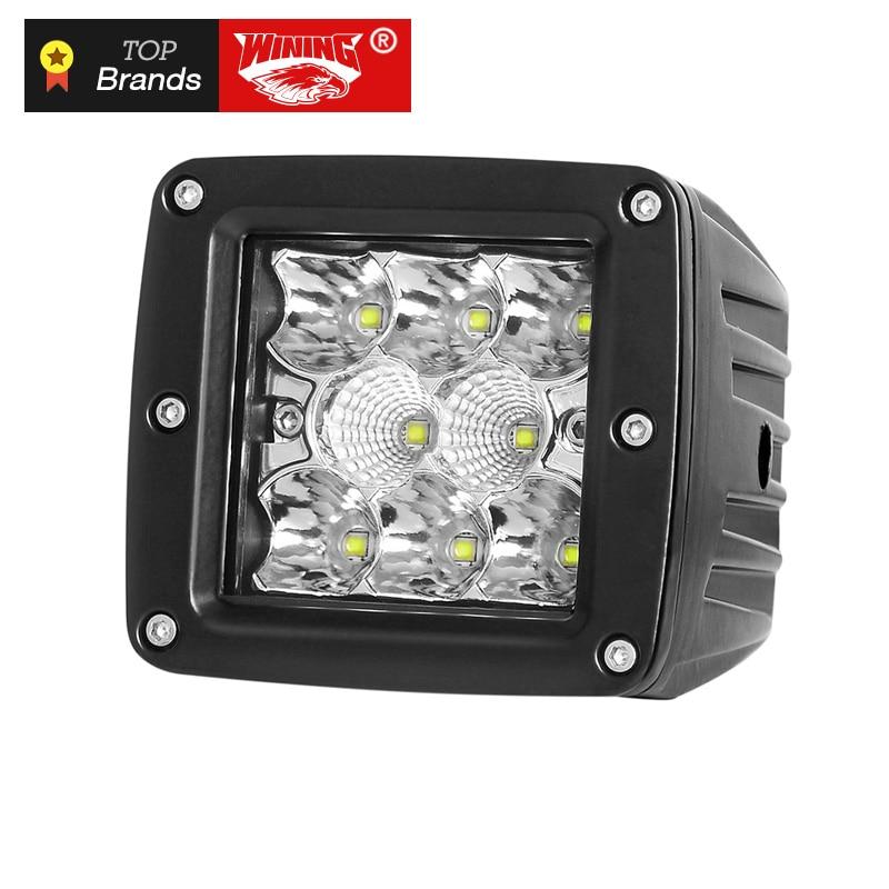Haute Puissance 40 W 4D LED Lumière De Travail Cosses pour Tracteur Bateau Offroad 4WD 4x4 Camion ATV D'inondation Feux de Brouillard 12 V 24 V Wrangler