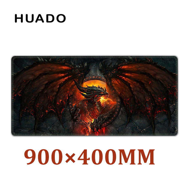 Rubber Gaming Mouse Pad mouse mat desk mats for gamer large mousepad for World of Warcraft/steelseries/ overwatch/dota 2/lol viviration new rubber xl computer desk mat mouse keyboard mat 900x400mm large gaming mouse pad for csgo wow overwatch lol dota 2