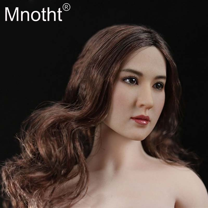 Mnotht Toy Presale Asian Female Head Carving 1:6 Female Soldier Head Sculpt Model OT001 OTOO2 Head Fit For PH VH JIAOU DOLL Body asgharali saadia