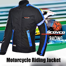 SCOYCO Motorcycle Ricing Jacket Motorbike Body Armor Protective Offroad Riding Cycling Motocross Gear Clothes Coat Summer Winter