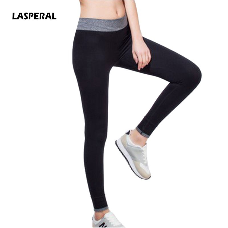 LASPERAL 2017 New Women Yoga Pants Sport Fitness Running Sportswear Tights Quick Drying Compression Trousers Gym Slim Legging