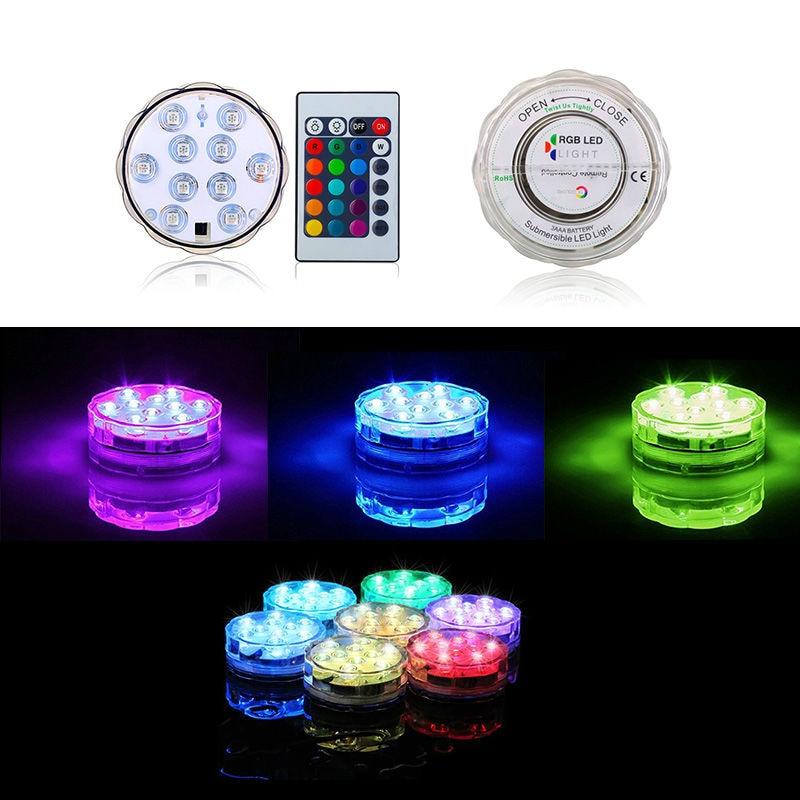 1pcs Flower Shaped 7cm Diameter 10pcs Super Bright SMD LED Led Submersible Light Base For Wedding Party Centerpiece