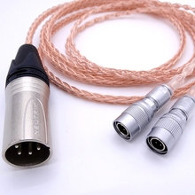 Oi-end 8 Núcleos 1.2 M Headphone Atualize Cabo PCOCC Cobre Para Mr Alto-falantes Éter Cão Alpha Prime