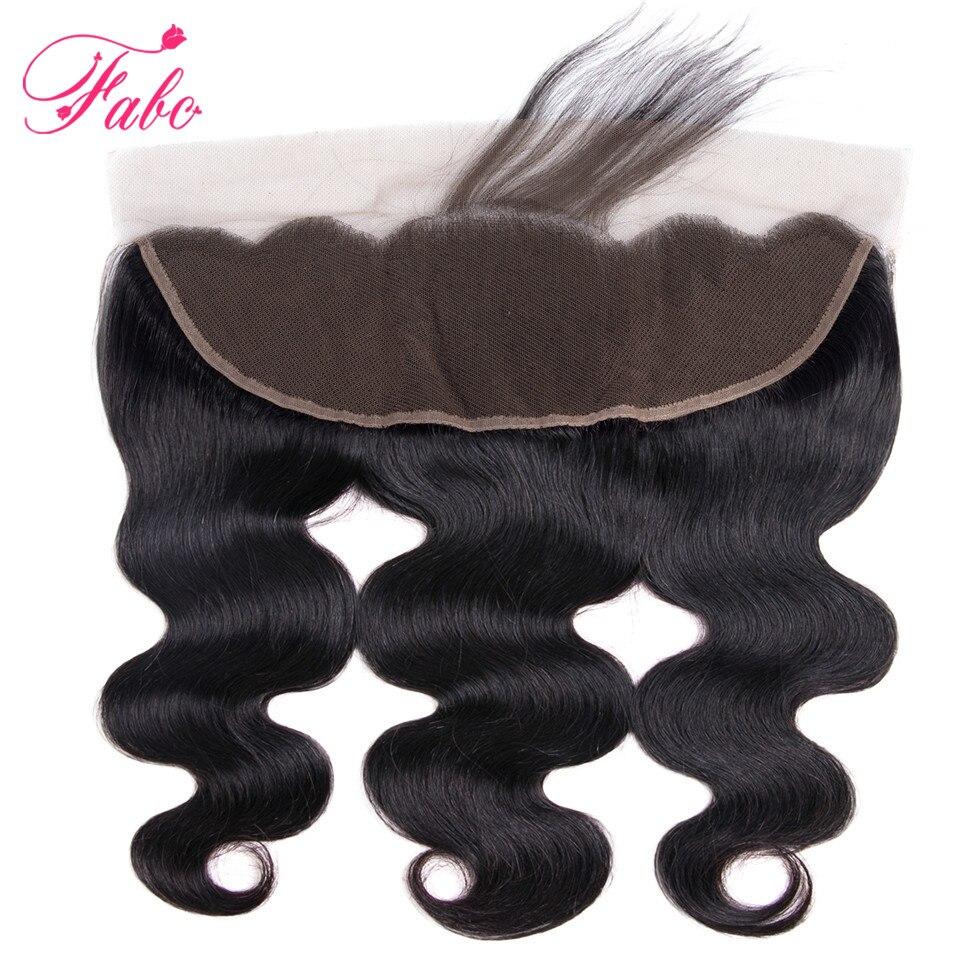 Fabc Hair Brazilian Body Wave 3 Bundles With Frontal Human Hair Weave Bundles 13x4 Lace Frontal Middle Ratio Non-remy