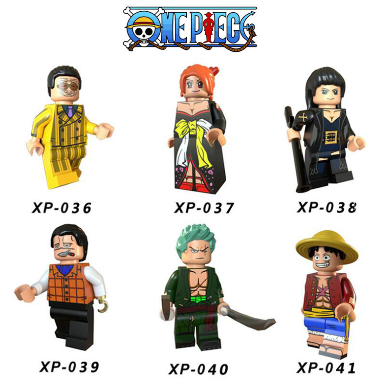 Model Building Honest 6pcs One Piece Series Monkey D Luffy/roronoa Sauron/robin Minifigures Building Blocks Figure Bricks Compatible With Legoings Blocks