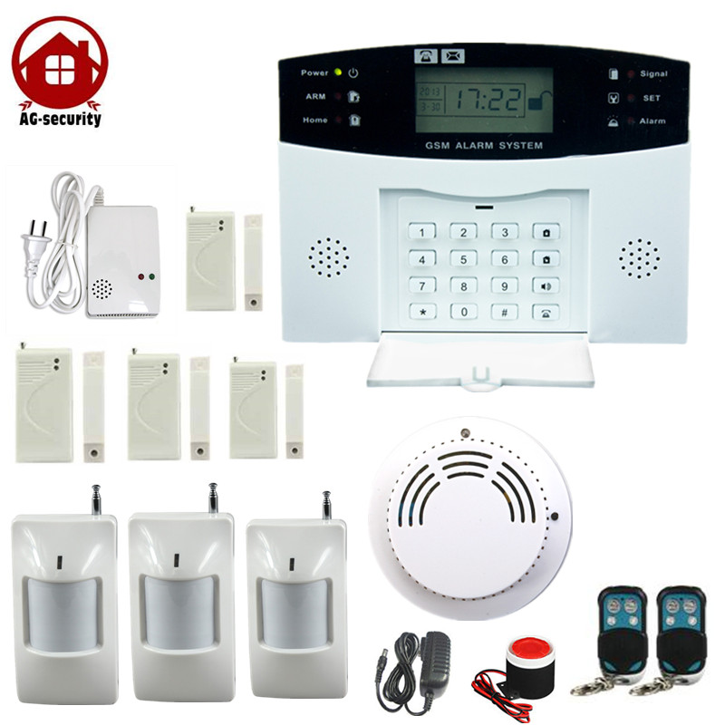 AG Security 433MHZ Wireless GSM Burglar Alarm House Security Surveilance gsm with door window gap sensor PIR Motion Detector high quality hot sale 100db wireless alarm system burglar safely security window door home magnetic sensor best promotion