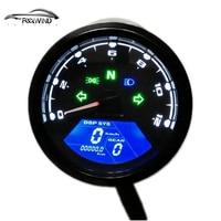 12000 RMP kmh/mph Universal LCD Digital Odometer Speedometer Tachometer Gear indicator Motorcycle Scooter Golf Carts ATV