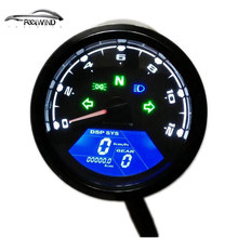 12000 RMP kmh/mph Universal LCD Digital Odometer Speedometer Tachometer Gear indicator Motorcycle Scooter Golf Carts ATV(China)