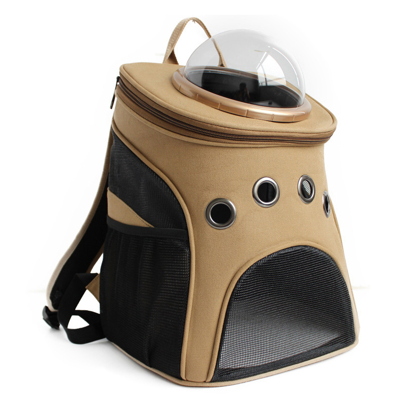 Mutifunctional pet backpack for cat Dog Carrier canvas pattern for small dogs carrier Space capsule pet inn туалет petinn space cat д кошки коричневый 52 5х39х40 см