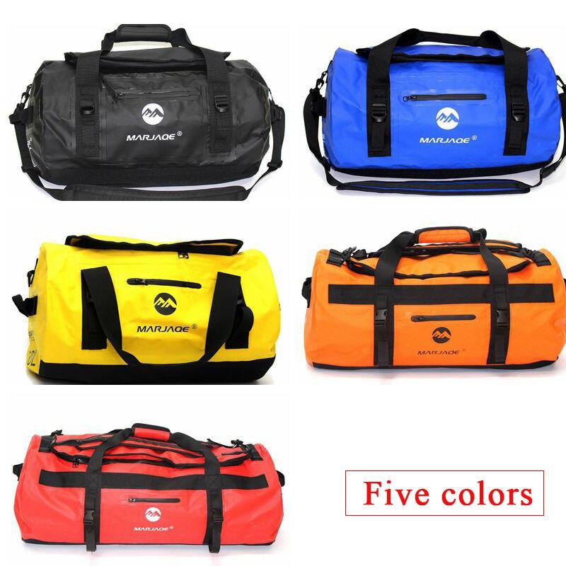 30/60/90L al aire libre de PVC bolsa impermeable seco saco bolsa de almacenamiento para Rafting canoa canotaje kayak río Trekking piscina bolsa de viaje - 4