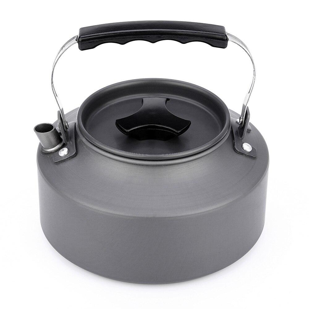 1.1L senderismo hervidor de agua ultraligero aleación estufas al aire libre tetera cafetera jarra hervidor Camping Picnic vajilla al aire libre