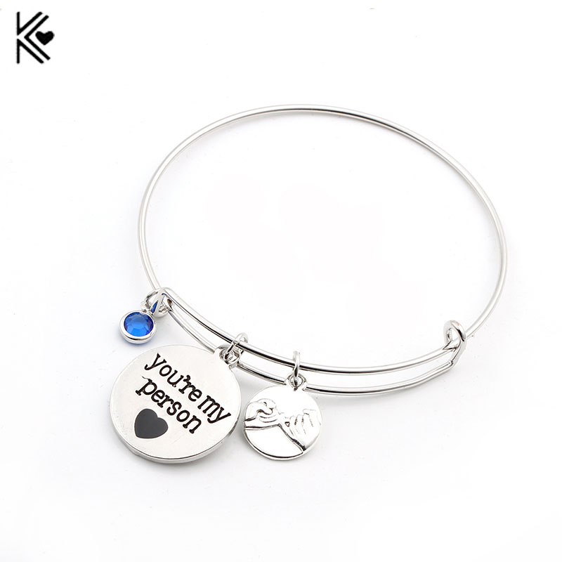 Greys Anatomy key rings 2 You Are My Person keychains set Lovers ...