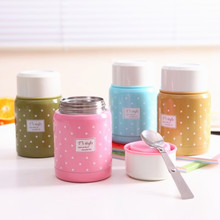 350ml Food Grade Material Thermos Mug Folding Spoon Stew Soup Thermo Portable Termos Good For Family Taking Lunch