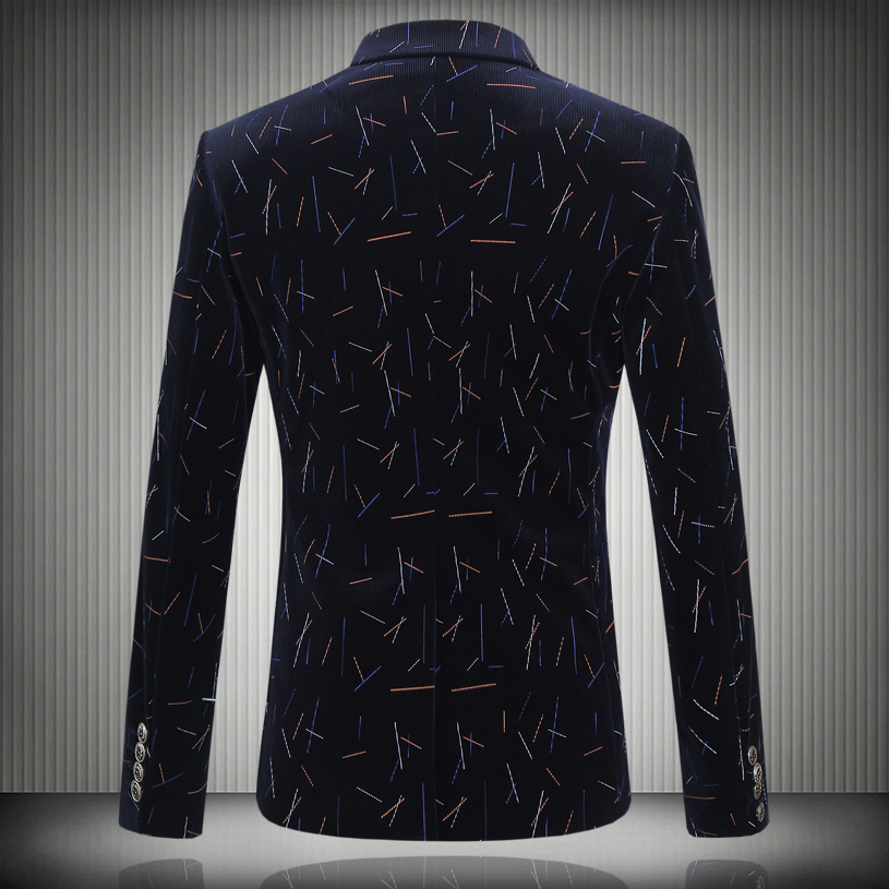 2016 autumn and winter new style mens fashion leisure Printed suit mans single-breasted suits jacket blazers Free shipping