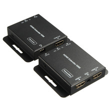 Universal HD 1080P HDMI to RJ45 Cat5e CAT6 Network Extender Converter Splitter Cable With Power Adaptor Two Cables