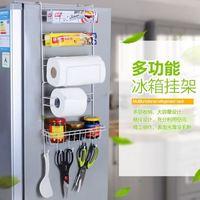 6 Tier Multi Purpose Metal Kitchen Cabinet Refrigerator Side Rack Door Metal Storage Rack Shelves Organizer with Suction Cups